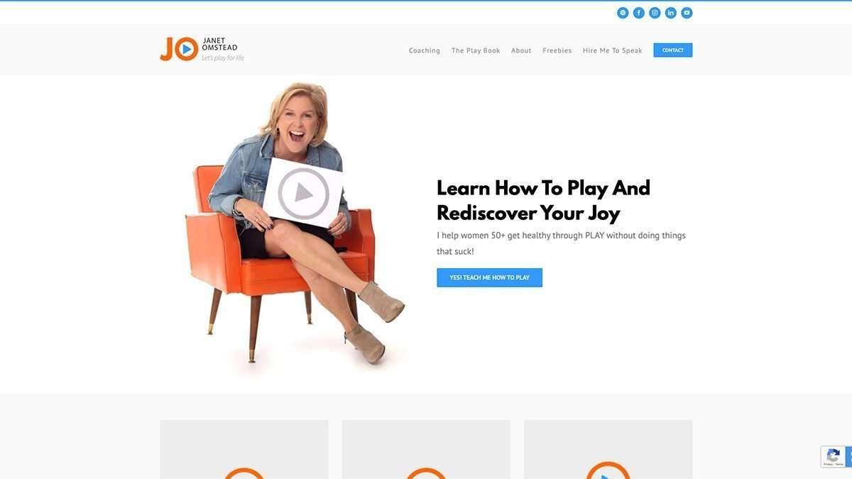 SmoothWebLife Project Janet Omstead Website