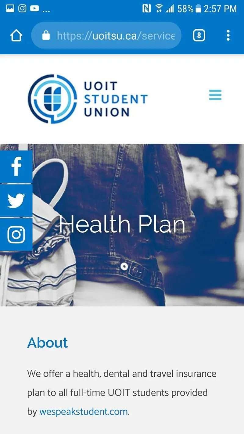 SmoothWebLife Project University of Ontario Website Mobile View