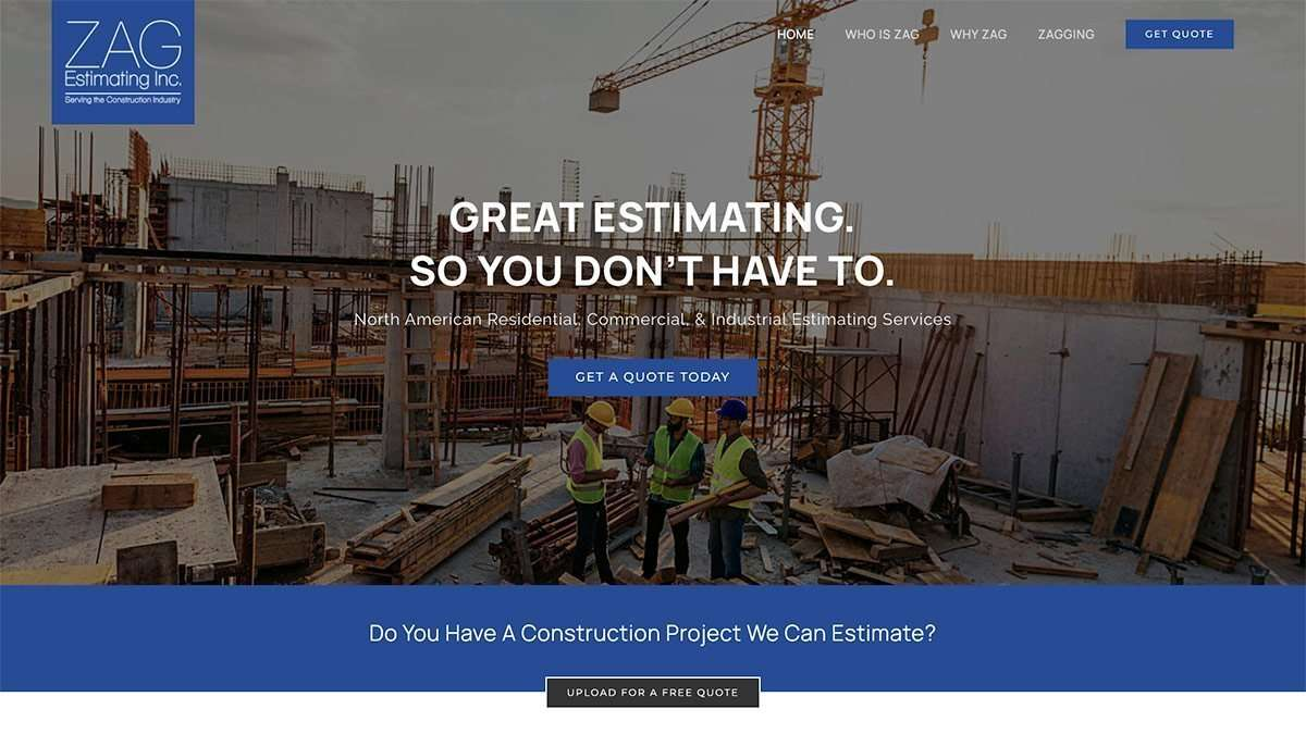 SmoothWebLife Project ZAG Estimating Inc