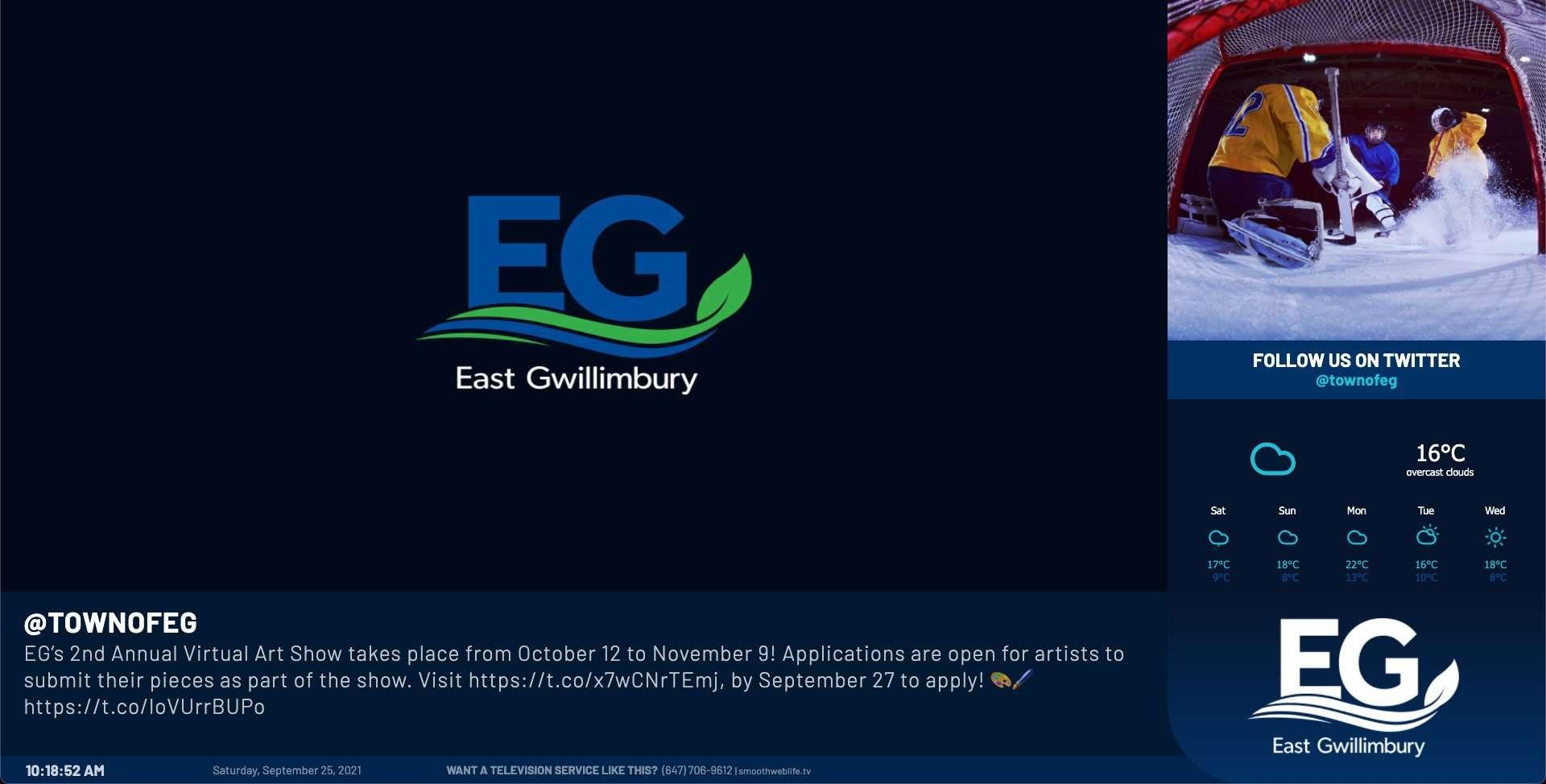 SmoothWebLifeTV East Gwillimbury Leisure Centres 2021 Update